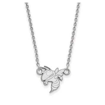 NCAA 14k White Gold Georgia Technology Small Pendant Necklace