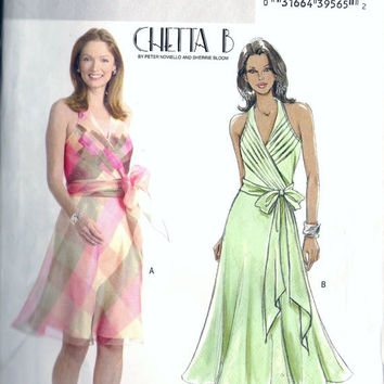 Butterick B4514 Misses' Pleated Halter Dress Sewing Pattern By Chetta B Sz 14-20