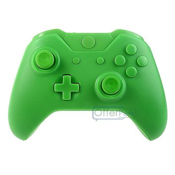 Custom Full Set Shell Buttons Replacement for Xbox One Controller Matte Green  #XOM03