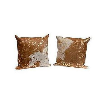 Cowhide Gold Pillow