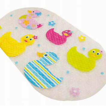 Practical Bath Non-Slip Mats Toilet Mat Shower Mat, Colorful Ducks