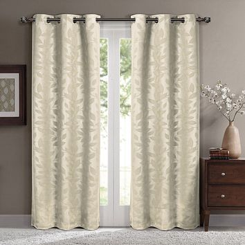 Beige 74x96 Virginia Blackout Grommet (Set of 2) Panels
