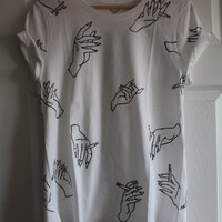 Harry Styles Inspired Hand Holding Cigarettes Shirt