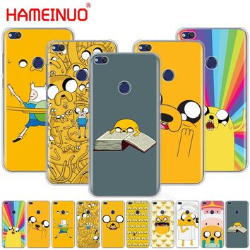 HAMEINUO jake Finn dog adventure time Cover phone Case for huawei Ascend P7 P8 P9 P10 P20 lite plus G8 G7 2017 mate 8