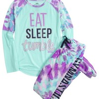 GYMNAST FLEECE FOOTED PAJAMA SET | GIRLS SLEEPWEAR SLEEP & UNDIES | SHOP JUSTICE