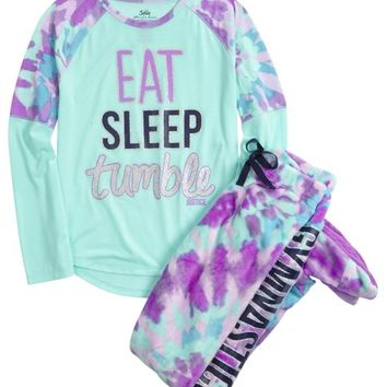 41ba1c37e775 GYMNAST FLEECE FOOTED PAJAMA SET