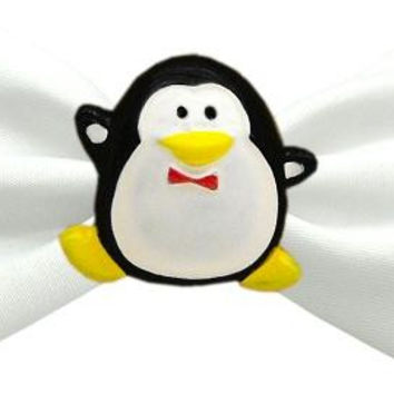 Penguin Chipper White Pet Bow Tie