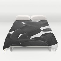 Cactus in Black And White Duvet Cover by ARTbyJWP