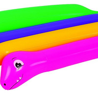 """Pack of 2 Purple and Yellow Dinosaur Twisty Tube Inflatable Swimming Pool Toys 63"""""""