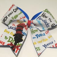 "2 1/4"" Dr Suess Cheer Bow"