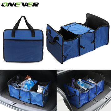 Onever Multifunctional Auto Car Trunk Storage Folding Bag Oxford Cloth Toys Food Organizer Tidy Container Bags Stowing Tidying