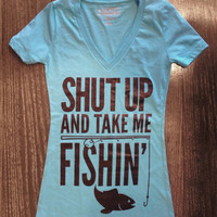 Luckless Clothing Co | Take Me Fishin' (Aqua)
