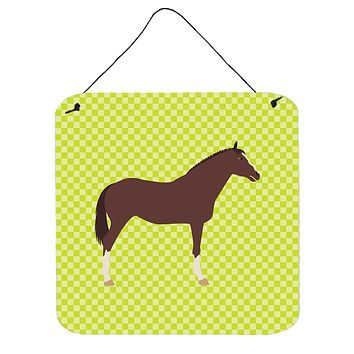 English Thoroughbred Horse Green Wall or Door Hanging Prints BB7739DS66
