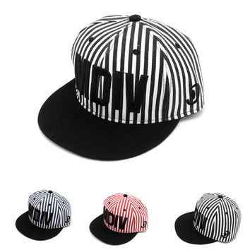 Summer Hip-hop Embroidery Stripes Alphabet Baseball Cap Couple Hot Sale Hats [4917730244]