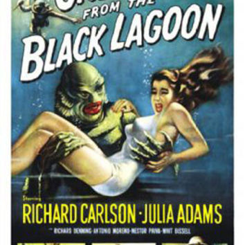 Creature From The Black Lagoon Vintage Movie Poster