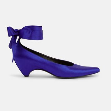 Cobalt Bow Tied Pump - Stella Mccartney