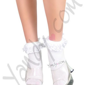 Ruffle and Bow Nylon Anklet