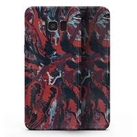 Abstract Wet Paint Red v95 - Samsung Galaxy S8 Full-Body Skin Kit