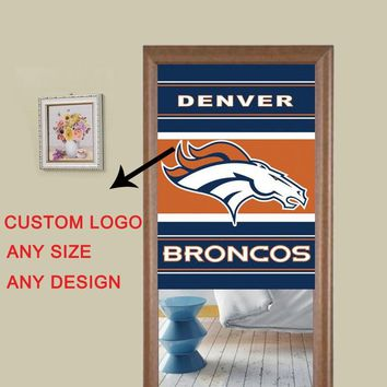 Denver Broncos Printed colorful flag style modern 3d curtains for the kitchen bedroom bathroom window kitchen door curtains