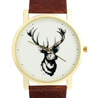 ASOS Watch With Stag Print