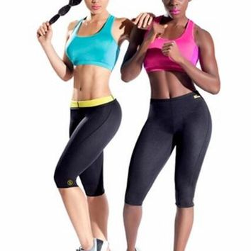 Hot Shapers Women's Thermal Slimming Pants Hot Shaper Weight Loss Compression Neoprene Waist Trainer Body Shaper Slimmer Shorts