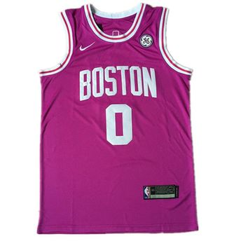 Men's Boston Celtics #0 Jayson Tatum Hyper Pink Jerseys - Best Deal Online