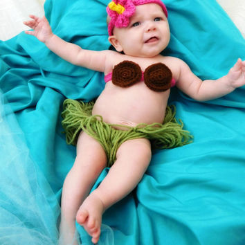 Hula Baby Photo Prop Crochet Pattern 0-3m