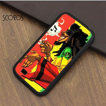 SCOZOS Bob Marley & Rasta Reggae cell phone case cover for samsung galaxy S3 S4 S5 S6 S7 S8 S6 edge S7 edge note 3 note 4 note 5