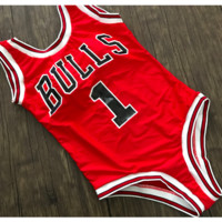 CHICAGO BULLS ONE-PIECE HIGH CUT SWIMSUIT