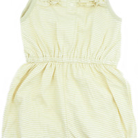 Sleeveless Shortalls - Olive Stripes