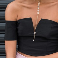 Sweetheart Crop Black