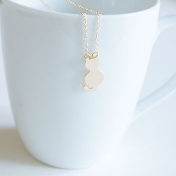 Cute Cat Lady Gold Cat Necklace, Gold Kitty Necklace Cat Kitty Dainty Jewelry