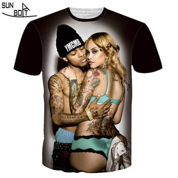 Sunboat New Brand Men/women Hip Hop Sexy Tattoo T Shirt Men 3d Compression T-shirt Swag Tshirt Homme High Quality Clothing Plus