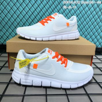DCCK2 N249 Nike Free 5.0 Off White X Mesh Casual Running Shoes White 3