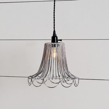 Shabby Chic Wire Pendant Light