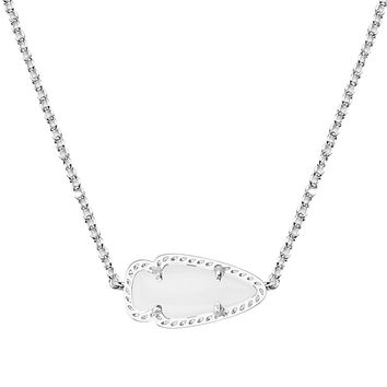 Skylie Silver Pendant Necklace in White Pearl - Kendra Scott Jewelry