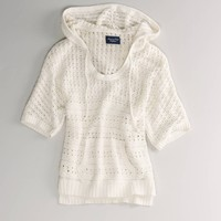 AE Open Knit Hooded Popover   American Eagle Outfitters