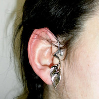 leaf elven elf  ear cuff wrap by seidijewelry on Etsy