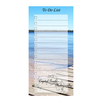 At The Beach Reusable Magnetic To Do or Grocery List Erasable