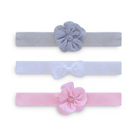 Carter's Girls 3 Pack Headwrap - White, Grey & Pink