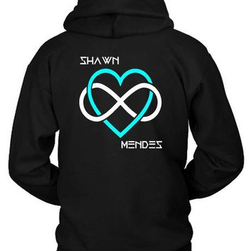 DCCKG72 Shawn Mendes I Love Shawn Mendes Beside Hoodie Two Sided