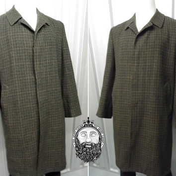 Vintage Dunn & Co Pure Wool Jacket Formal Coat Tweed Coat Gentleman Jacket Plaid Tartan Harris Tweed Mens Overcoat Classic English Country