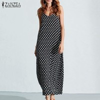 Maxi Dresses Summer  Casual Loose Long  Plus Size