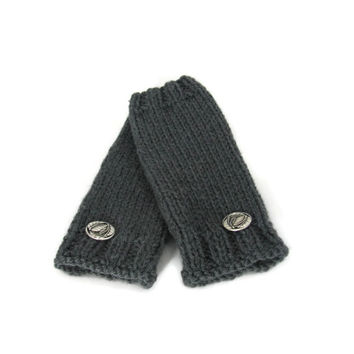 Gray Fingerless Gloves, Hand Warmers, Texting Gloves, Driving Gloves, Hand Knit Gloves, Knit Fingerless Gloves, Winter