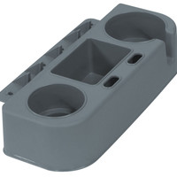 Boat Seat Cup Holder and Gear Caddy, Gray - Wise Boat Seats