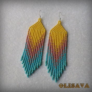 Long Indian Style Beads Earrings Tribal Boho Na
