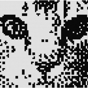 Monochrome Cat Instant Download Cross Stitch Pattern Chart Graph PDF Free Shipping
