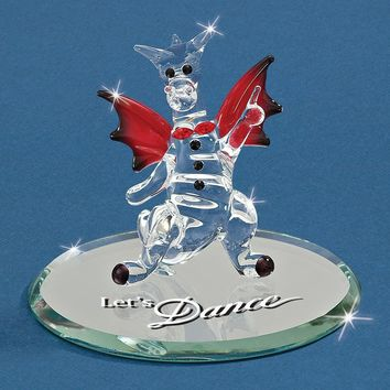 Dragon Let's Dance Glass Figurine