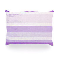 "CarolLynn Tice ""Grape"" Purple White Oblong Pillow"