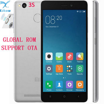 "Original Xiaomi Redmi 3S 3 S Mobile Phone 4100mAh Battery Fingerprint ID Snapdragon 430 Octa Core 5"" 720P 13MP Camera Metal Body"